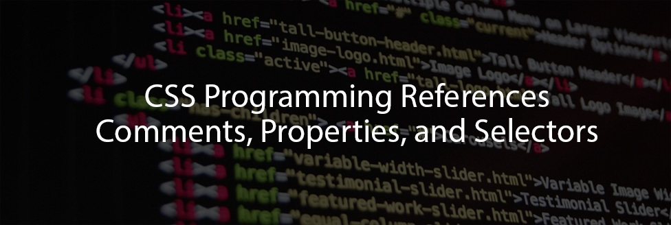 CSS Programming References
